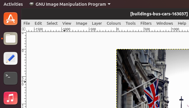 gimp maximised with wip light menus cropped